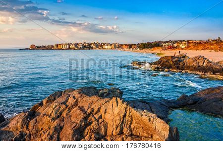 Sunrise At The Beach Of Sozopol