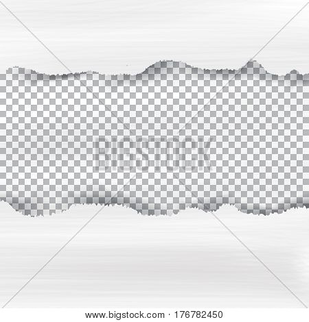 Ripped paper and checkered background with space for text, vector illustartion.