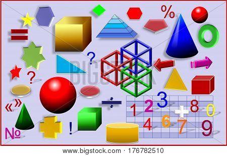 Colorful geometry. preschool classroom, preschool education, preschool reading,