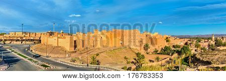 Taourirt Kasbah in Ouarzazate, Morocco. It is one of the national symbols of Morocco