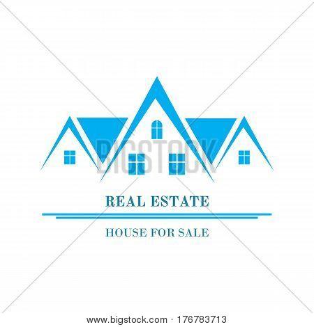 Real Estate logo design. House abstract concept icon