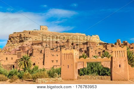 View of Ait Ben Haddou, a UNESCO world heritage site in Morocco