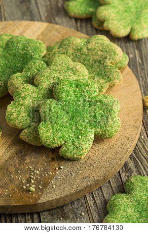 Homemade Green Shamrock Cookies