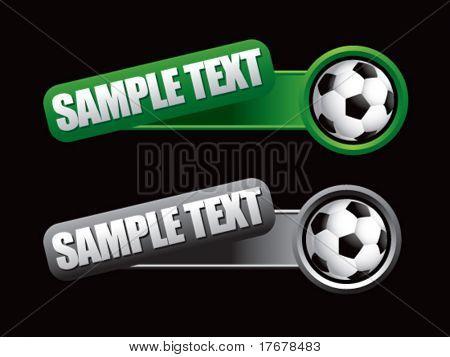 web banner featuring soccer balls