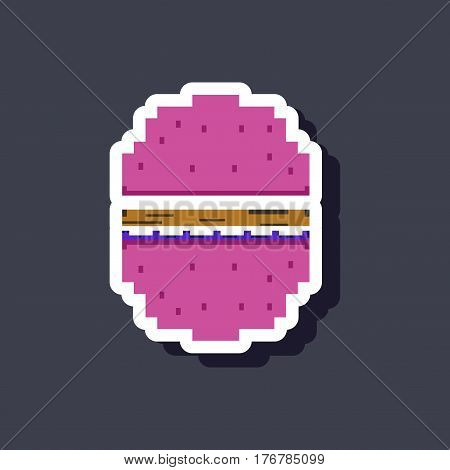 paper sticker on stylish background unhealthy hamburger