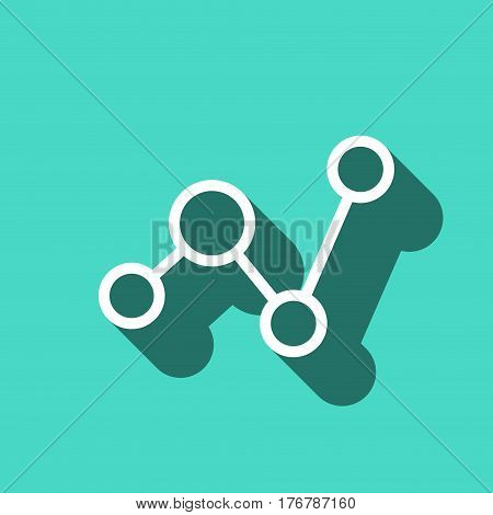 social network icon stock vector illustration flat design