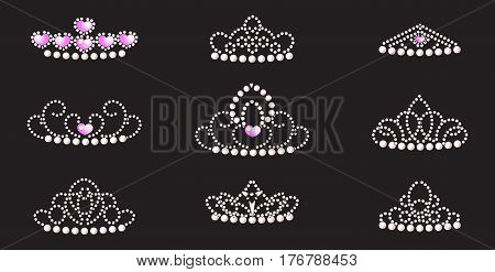 a set of crowns for the princess the queen precious tiaras