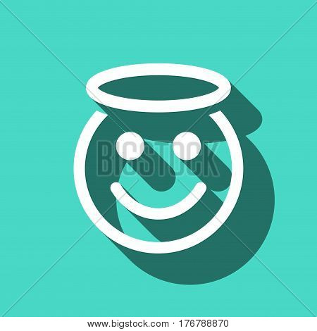 angel smile icon stock vector illustration flat design