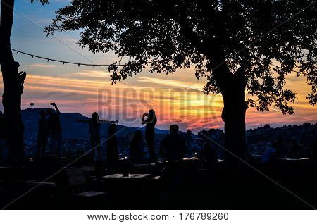 Beautiful sunset in Sarajevo - Bosnia and Herzegovina