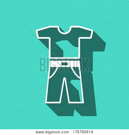 clothing icon stock vector illustration flat design