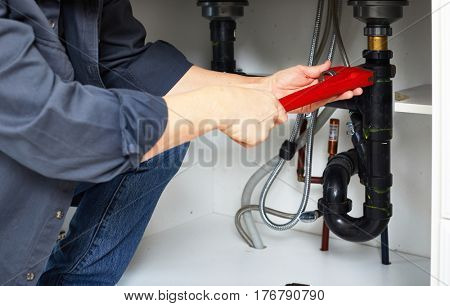 Plumber hand wrench.