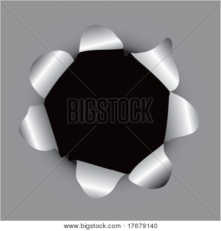 paper hole popping background
