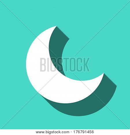 moon icon stock vector illustration flat design
