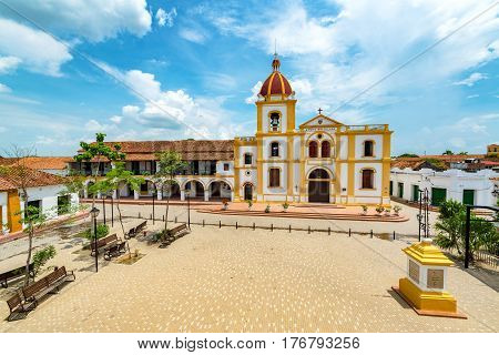 Plaza In Mompox From Above