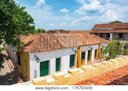 Colonial Buildings In Mompox