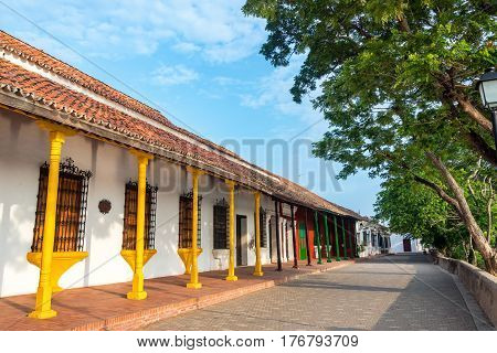 Some colorful colonial architecture in Mompox Colombia