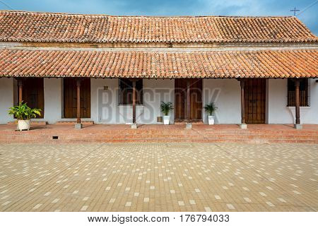 White Colonial Building