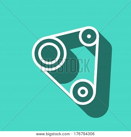 Timing belt icon stock vector illustration flat design