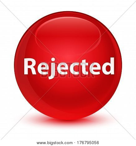 Rejected Glassy Red Round Button