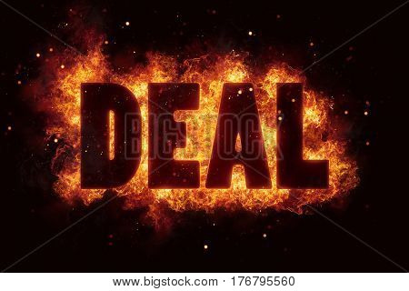 deal fire flames burn text explosion explode sale hot