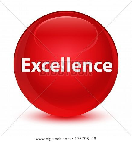 Excellence Glassy Red Round Button