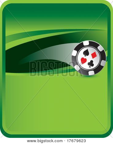 poker chips on green classic background