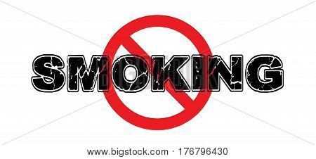 Ban Smoking, No Smoking Sign Isolated on White