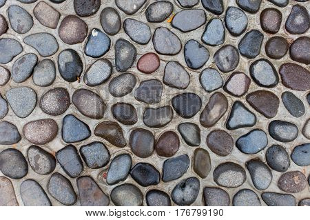 Pavement Of Round Stones Background