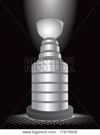 hockey trophy on interesting background