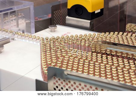 Insulin Production Line. Industrial Release Of Insulin In Cartridges. Insulin Cartridge For Diabetic
