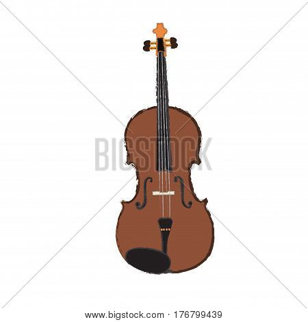 Isolated violin on a white background, Vector illustration