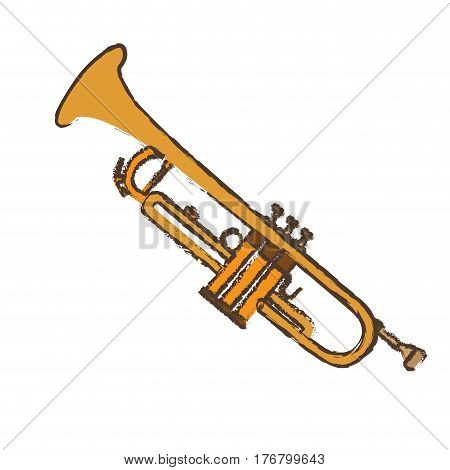 Isolated trumpet on a white background, Vector illustration