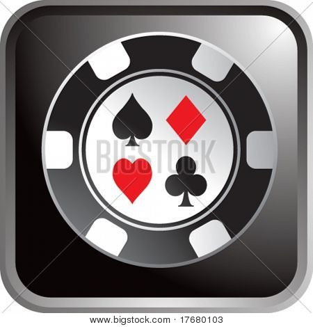 poker chip on web icon