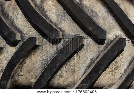 Curved Rubber Tire Treads To Be Used For Background