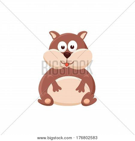 Adorable hamster illustration. Cute cartoon animal isolated on white background.