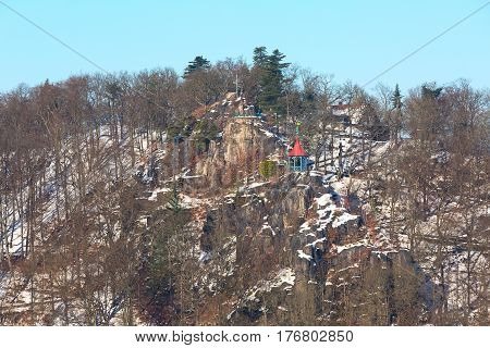 Peter's Height lookout in Karlovy Vary, the Czech Republic