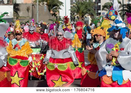 People In Costumes Celebrating Carnival