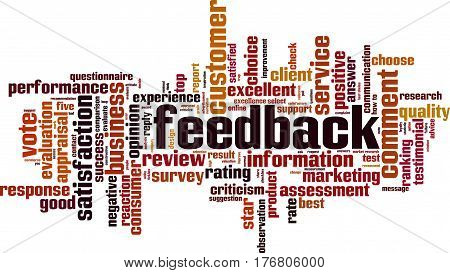Feedback word cloud concept. Vector illustration on white