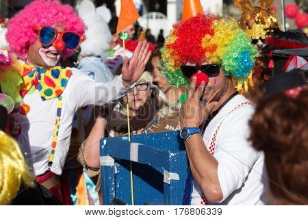 Clowns On Carnival