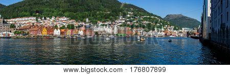 Bergen, historically Bjorgvin, is a city and municipality in Hordaland on the west coast of Norway.