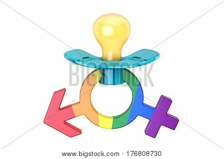 LGBT adoption concept 3D rendering on white