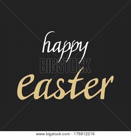 Happy Easter Greeting Card With Hand Drawn
