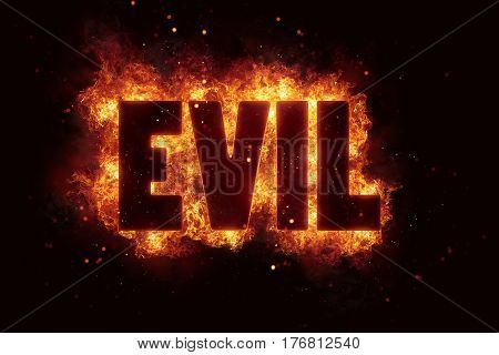 evil Fire Satanic sign gothic style evil esoteric occultism