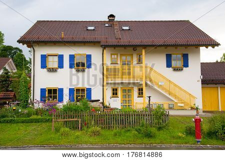 Building In Fussen, Bavaria, Germany.