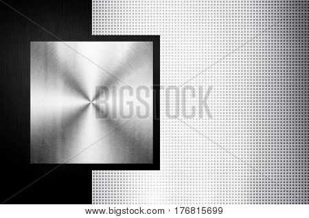 metal template with grid background