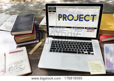 Project Brainstorming Ideas Planner Concept