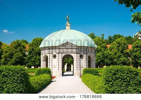 Court Garden Temple Of Diana In Munich, Germany