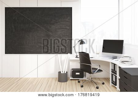 Ceo Room With A Blackboard