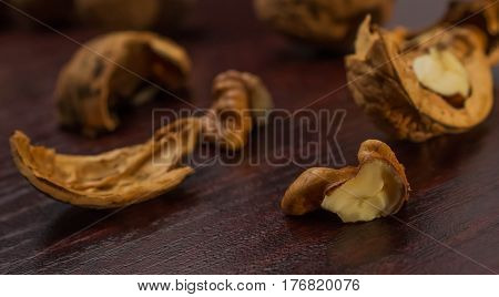 Walnuts wooden season nuts christmas pile nutty diet
