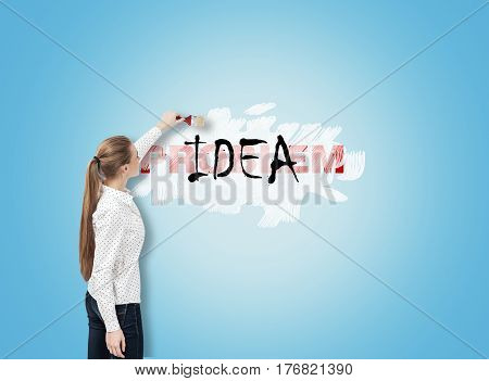 Woman Solving Business Problems